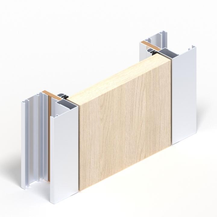 двери с алюминиевым корбом